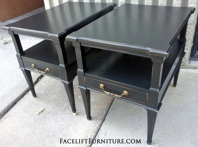 Distressed Black End Tables From Facelift Furniture S Collection