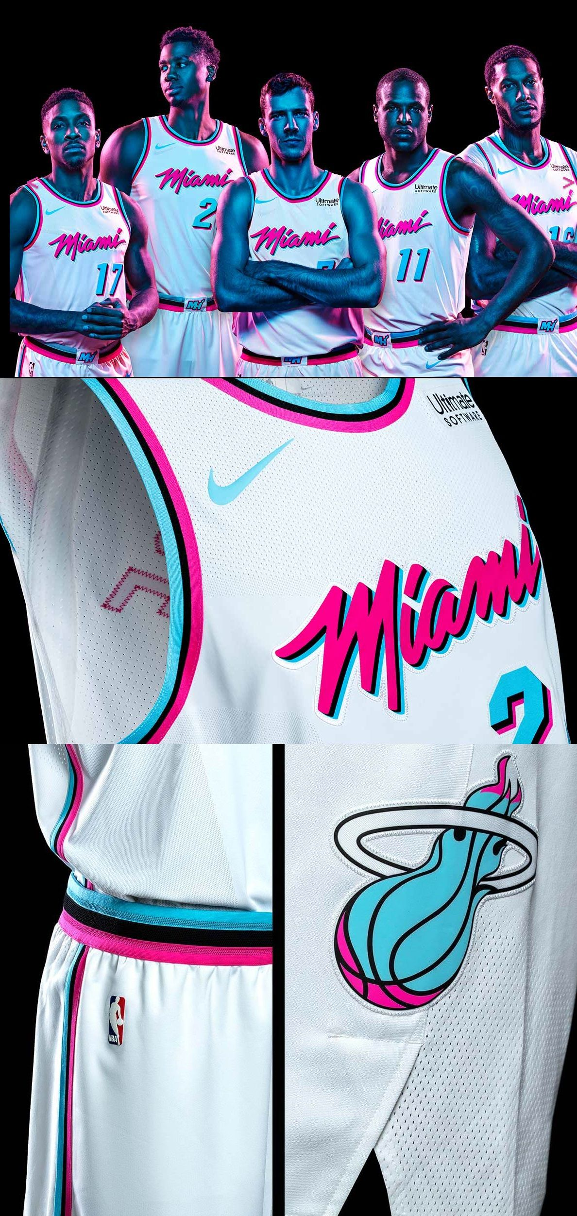 242cff764f5 Miami Heat  Vice  City Edition Unis  MiamiHeat  MiamiCulture  NBA ...
