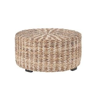 shop for london tan abaca round coffee table get free shipping at