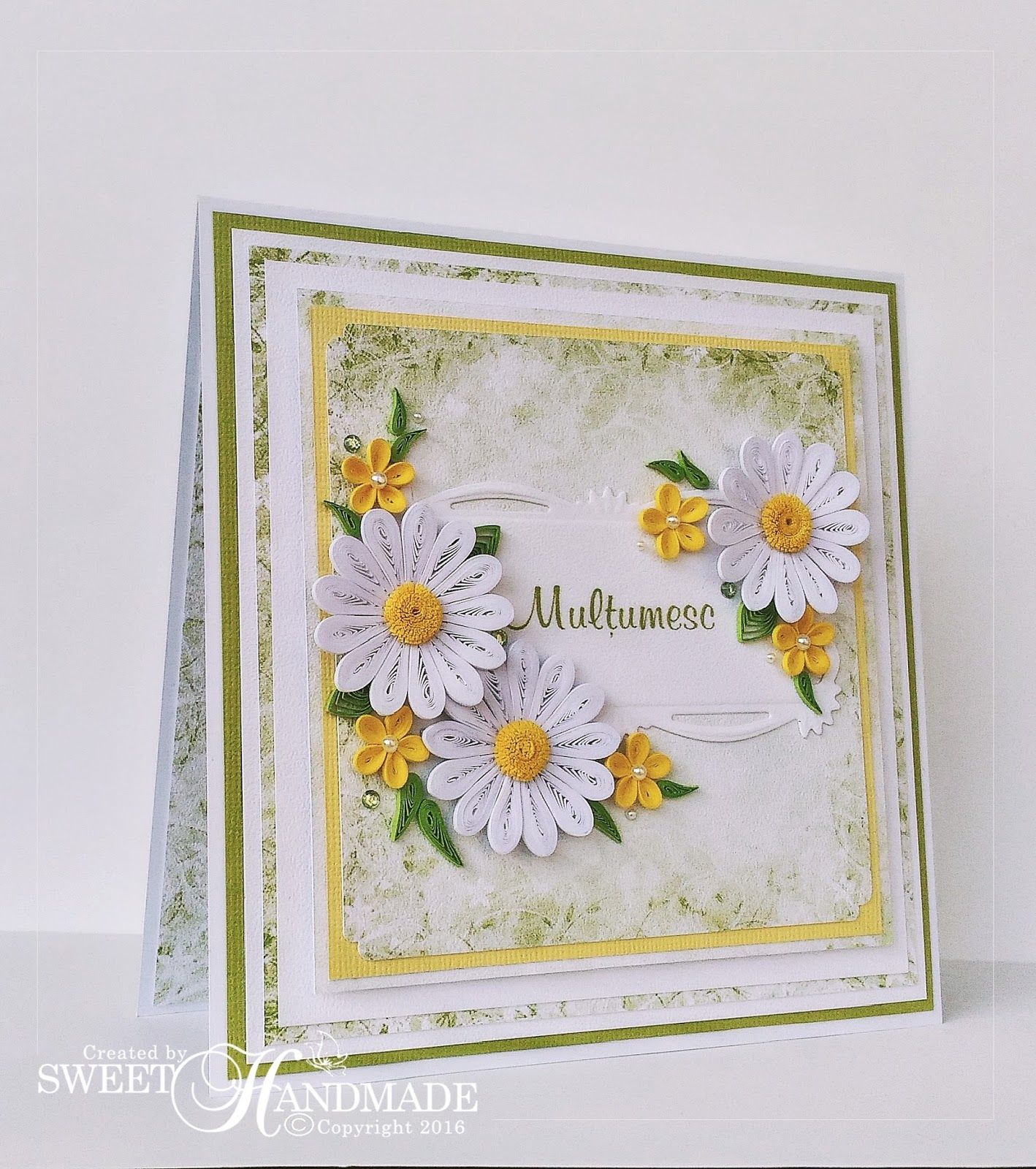 Fresh colors for this beautiful spring quilling card the flowers and fresh colors for this beautiful spring quilling card the flowers and the leaves are made with izmirmasajfo Images