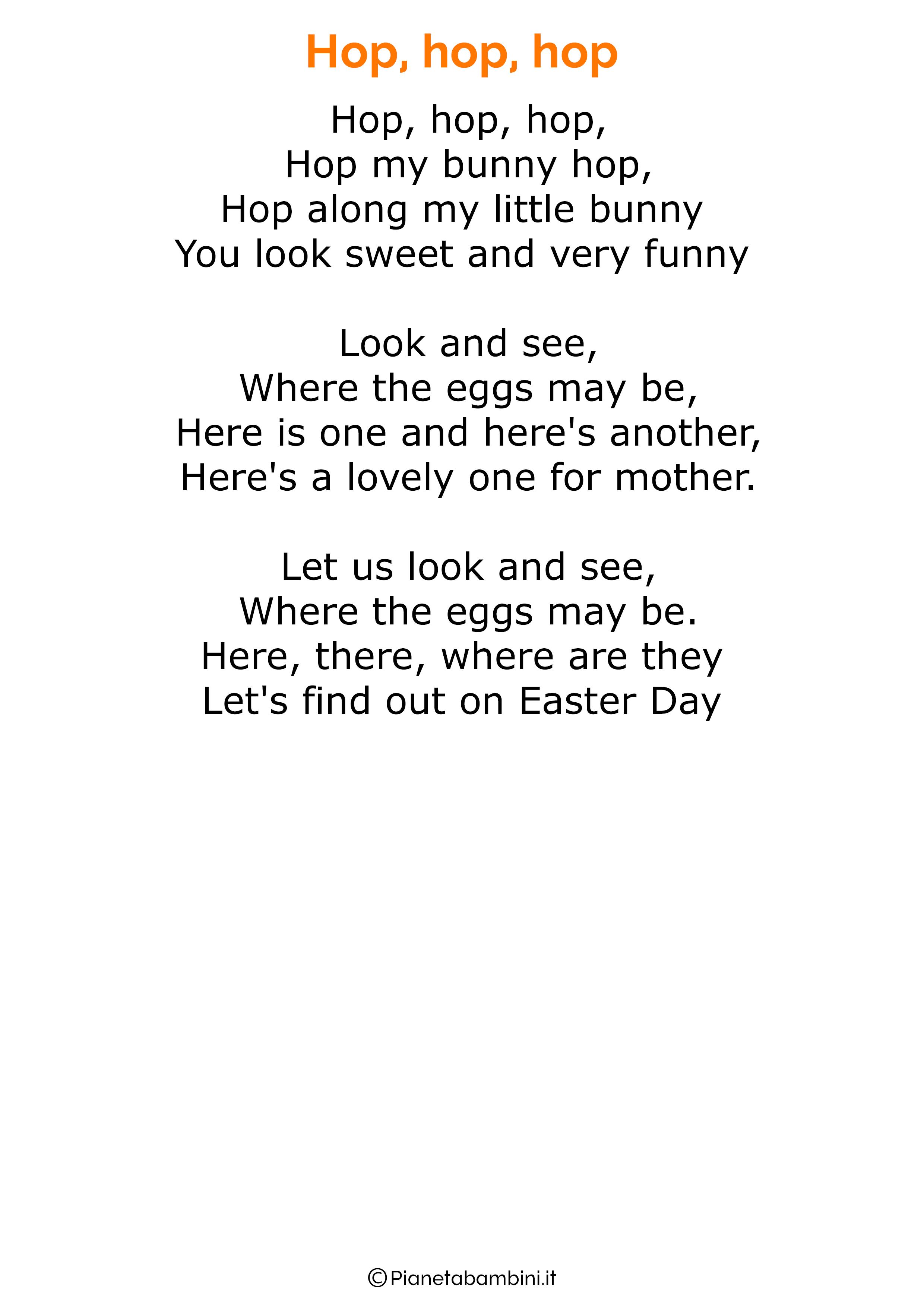 Poesie Di Natale In Inglese Per Bambini.30 Poesie Di Pasqua In Inglese Per Bambini Inglese Poesia Canzoni Per Bambini