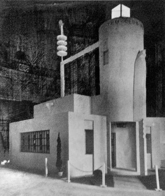 maquette;du pavillon de l'aéro-club. robert Mallet- stevens. (1922)