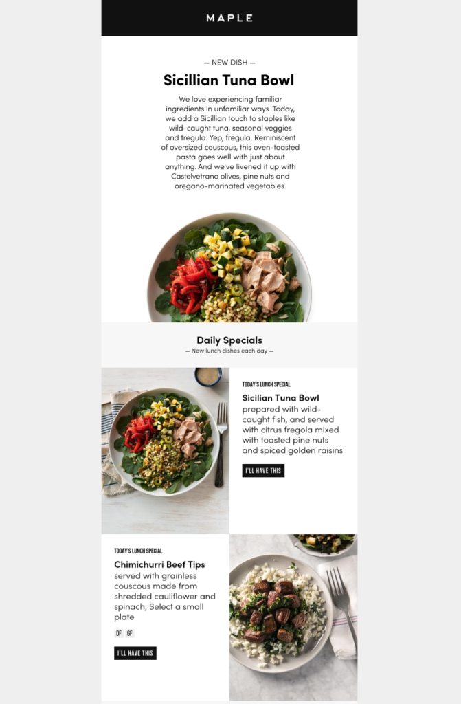 Food Industry Email Design What 3 Brands Are Cooking Up Food
