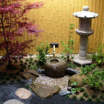 mondo grass Bamboo garden set Pinterest Decoracion japonesa - jardines zen