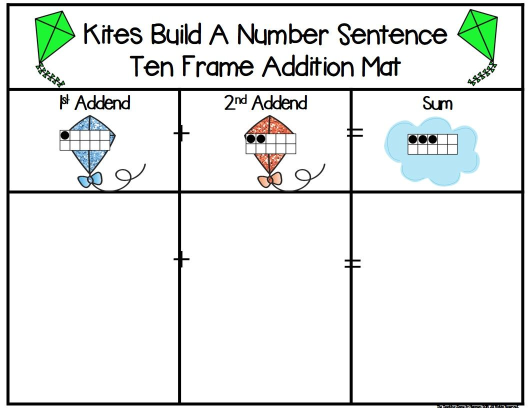 Kites 2 Addend Addition Amp Subtraction With Ten Frames