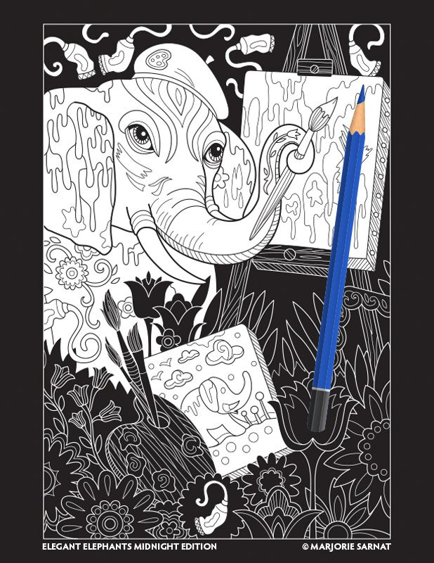 From The Sweet To Sophisticated Thirty Four Illustrations Celebrate Majesty Of Elephants