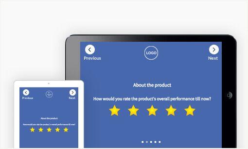 Collect customer feedbacks on iPads. ipad surveys