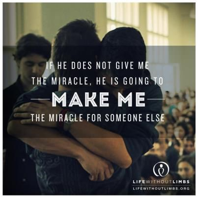 make me a miracle for someone else if I can't get my own