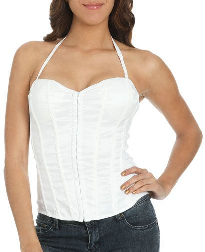 Solid Shimmer Bustier from WetSeal.com..buying this when it goes on sale :)