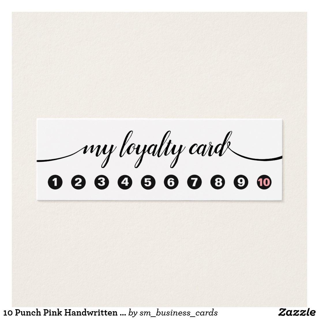 10 punch handwritten calligraphy loyalty