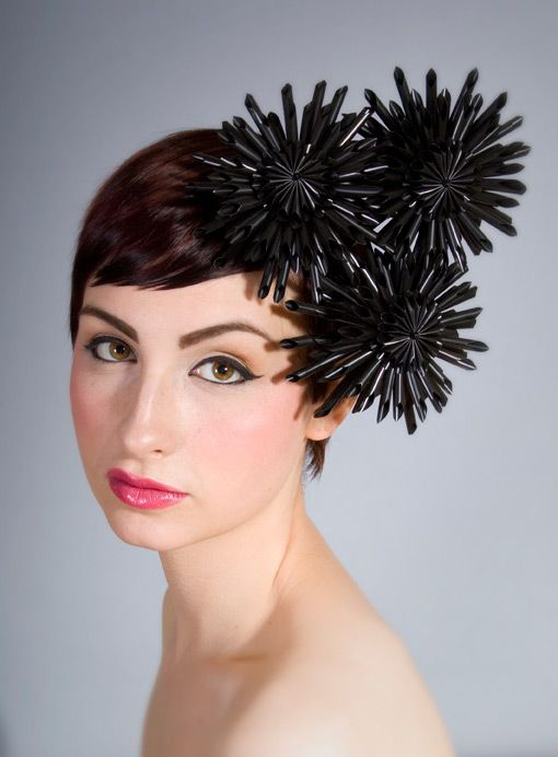 Glasgow based William Chambers stunning millinery.