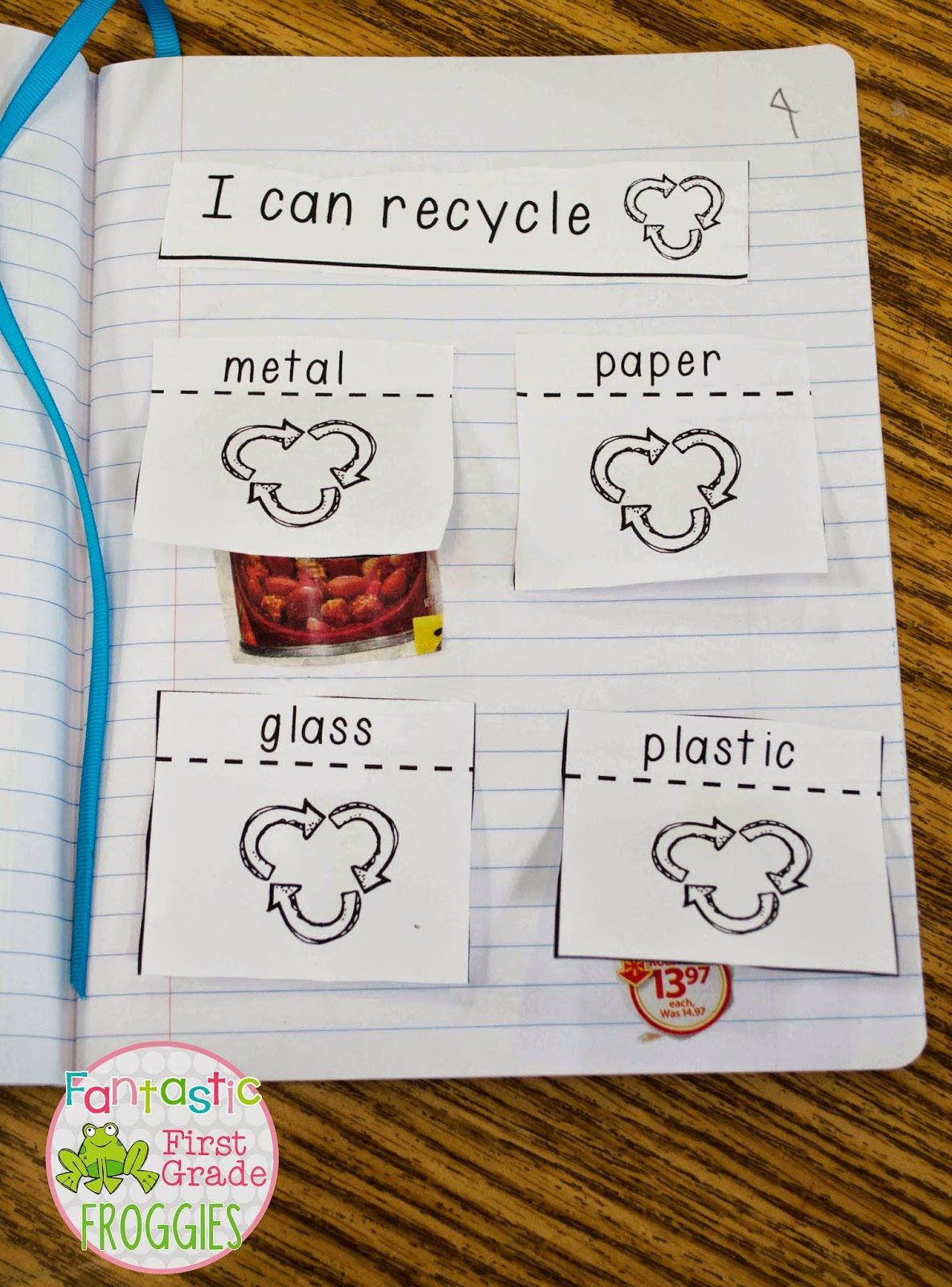 I Can Recycle Interactive Notebook Sort