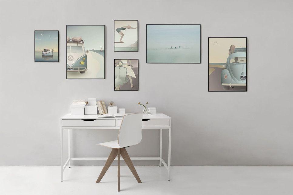 Vissevasse english posters and wall art poster camper en vw