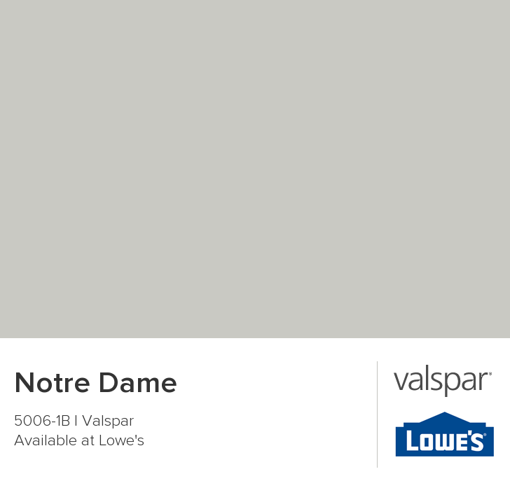 Notre Dame Final Choice For Living Room And Stairwell Hall