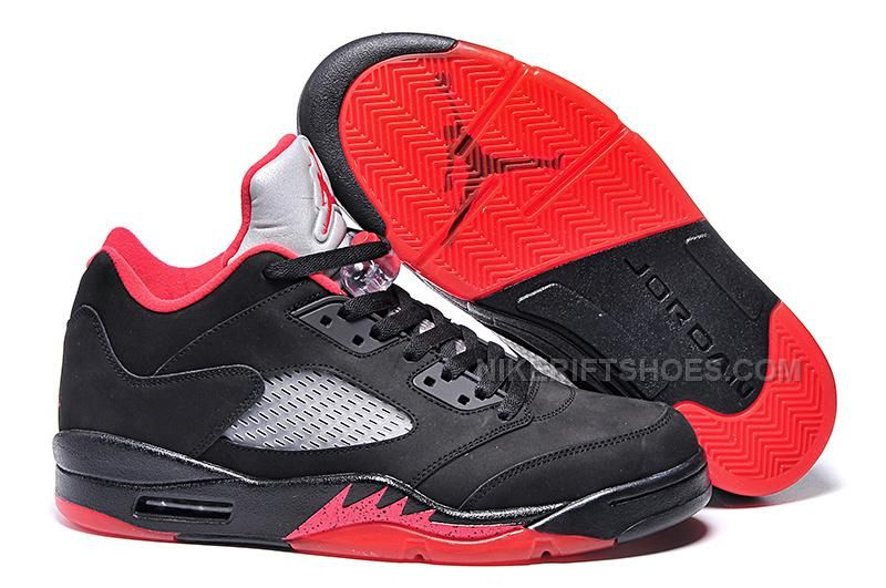 337ca0666002 Mens Air Jordan 5 Low Black Fire Red in 2019