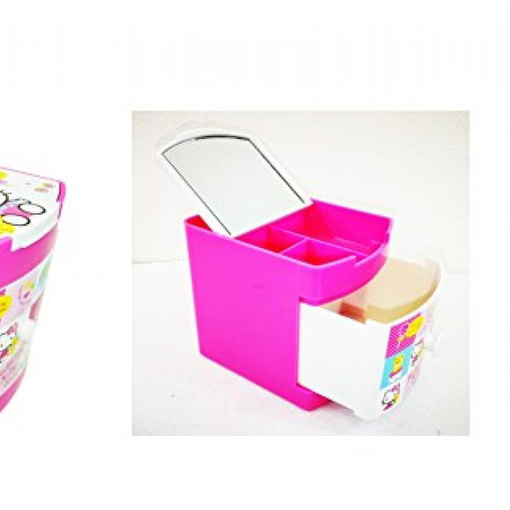 Jul Products O Kitty Pink Multi Jewelry Case Box Desk Organizer Ribbon