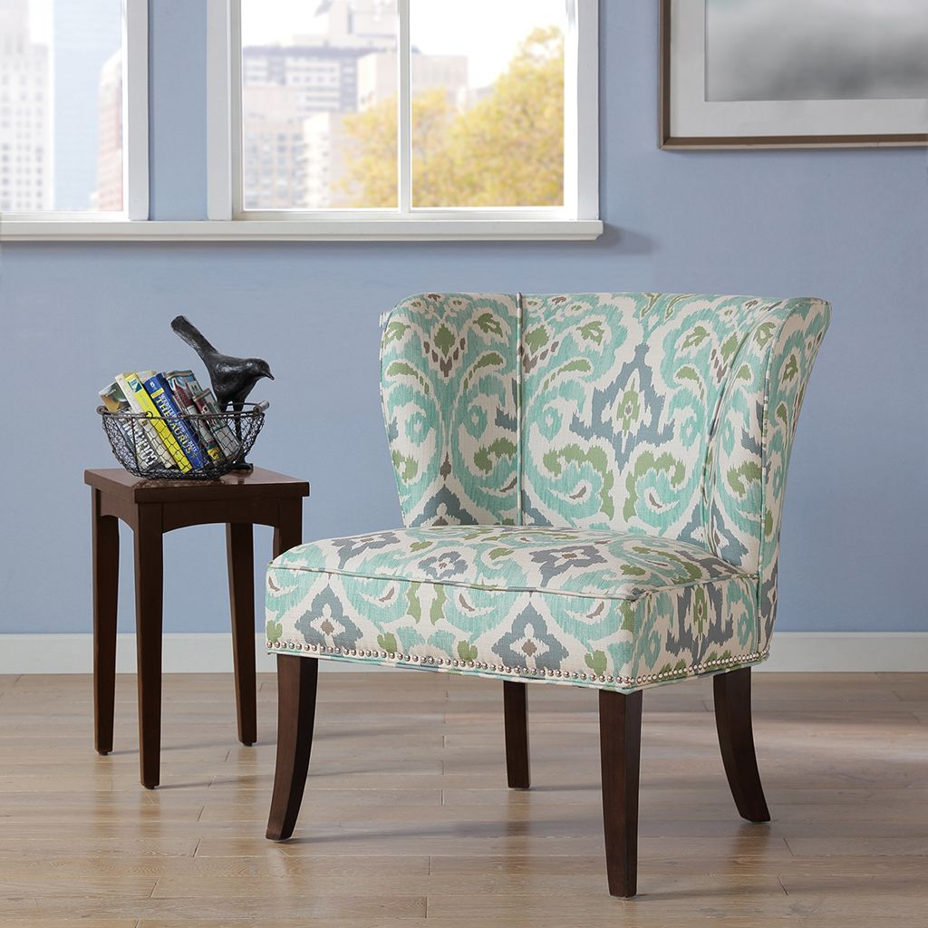 Best Madison Park Sheldon Blue Green Printed Armless Accent 400 x 300