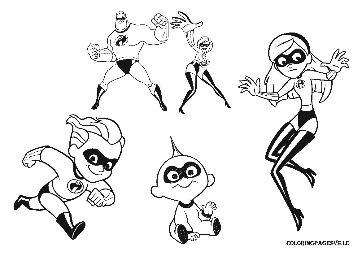 Disney Incredibles Coloring Pages