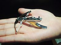 Mini Crossbow Shooting Toy 5.9LB drawing force Full Stainless Steel  #2014 type