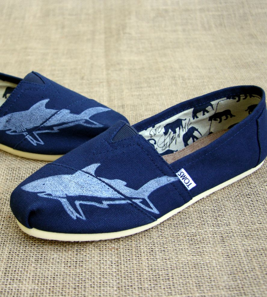 Blue Printed Toms Shoes - Shark | Women's Bags & Accessories | The Matt Butler | Scoutmob Shoppe | Product Detail
