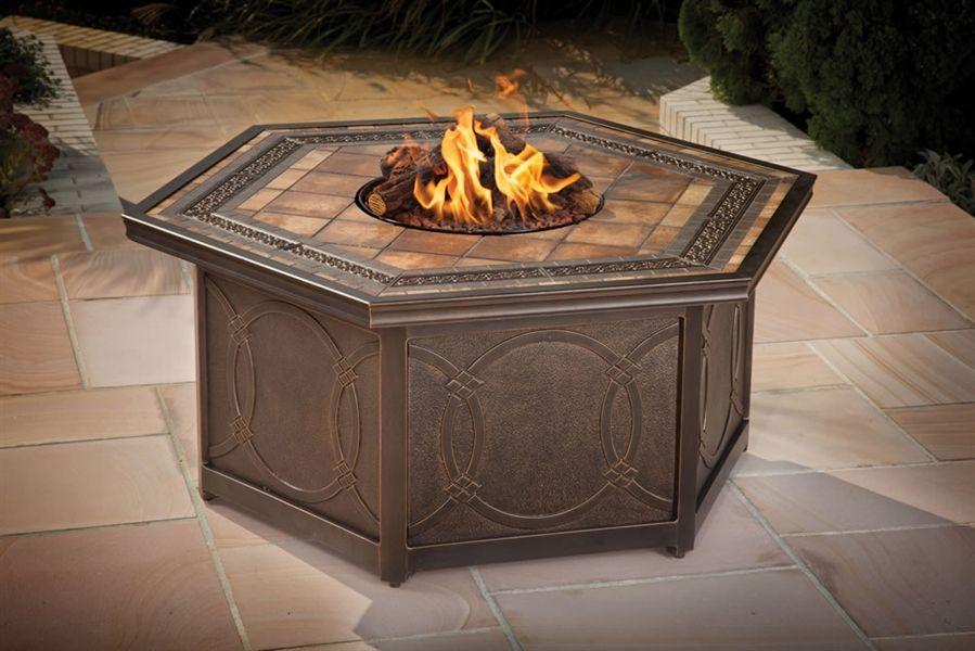 Hexagon Agio Fire Pit   Fire pit table, Wicker furniture ...