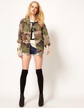 Veste militaire femme asos
