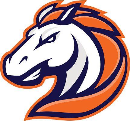 Horse Mascot Vector Art Illustration Team Logo Design