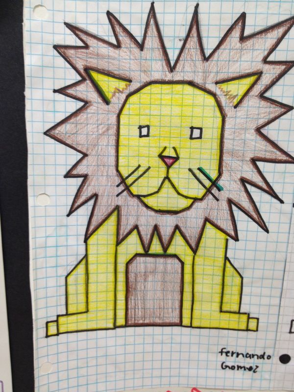 Functions Of Lines In Art : Graphing an animal project math pinterest