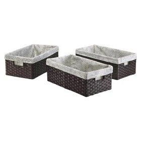 Threshold™ Set of 3 Paper Rope Media Basket - Dark : Target Mobile