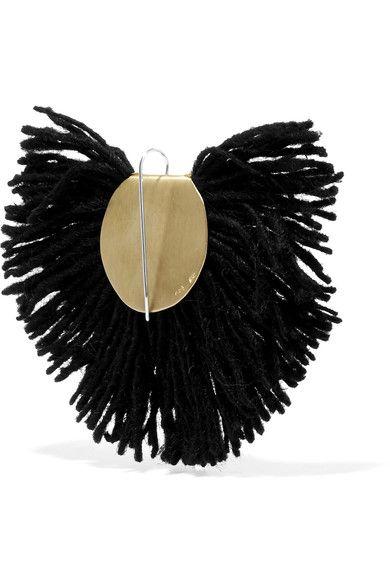 Fan Fringed Gold-tone Earrings - Black Katerina Makriyianni cQWN7qz4