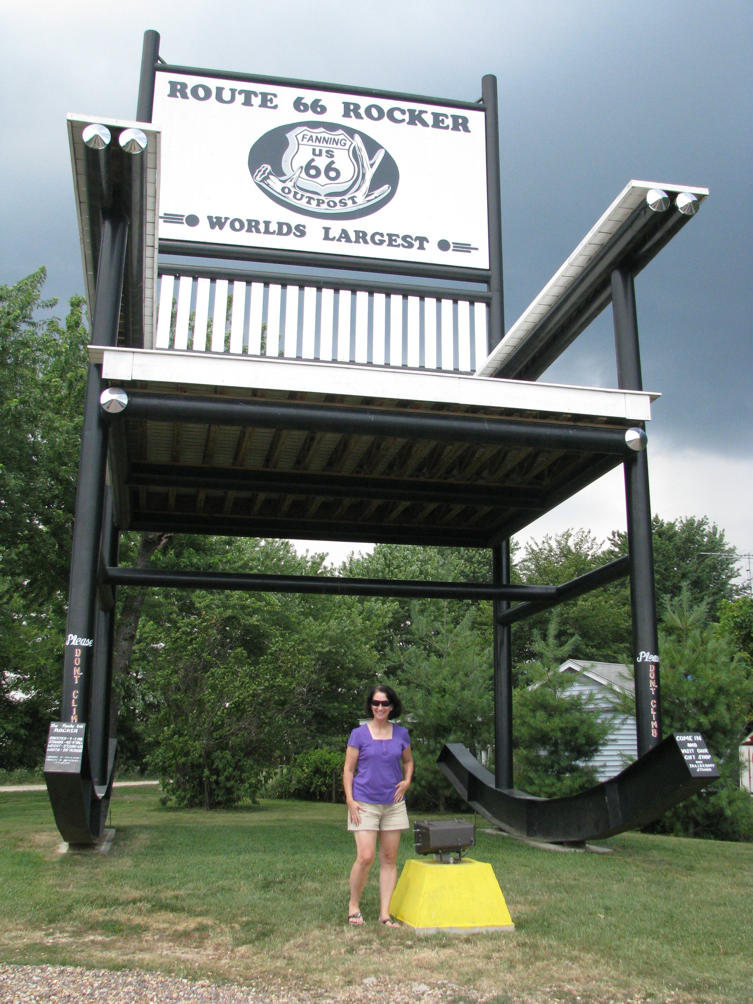 Super Worlds Largest Rocking Chair Near Steelville By Karen Alphanode Cool Chair Designs And Ideas Alphanodeonline