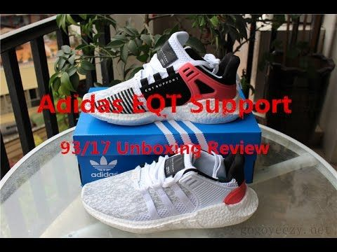 4618d8e1c Unboxing  Adidas EQT Support 93 17 Turbo Red Review From gogoyeezy ...