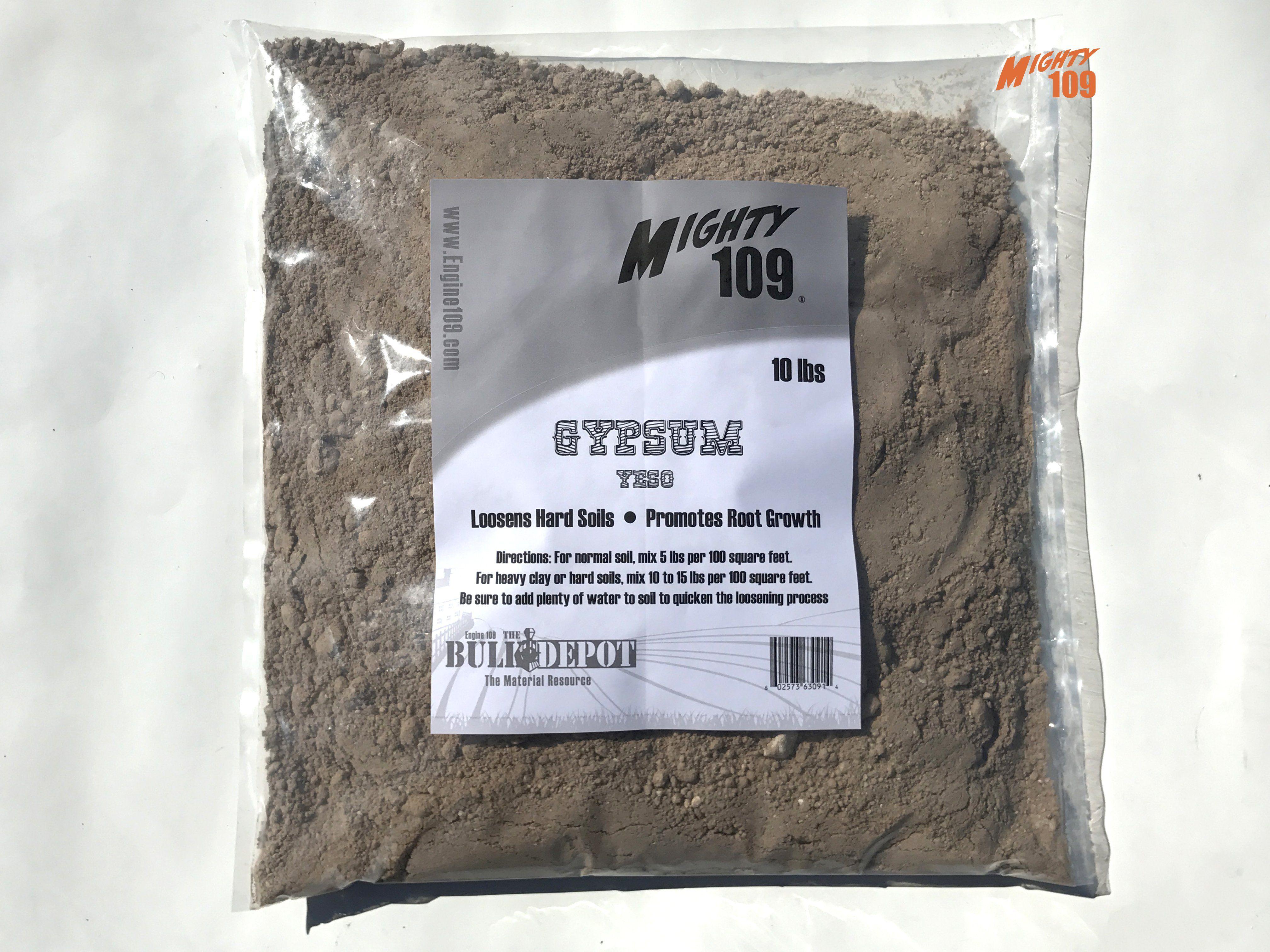MIGHTY 109 Gypsum Yeso, Garden Soil Softener, 10 LBS
