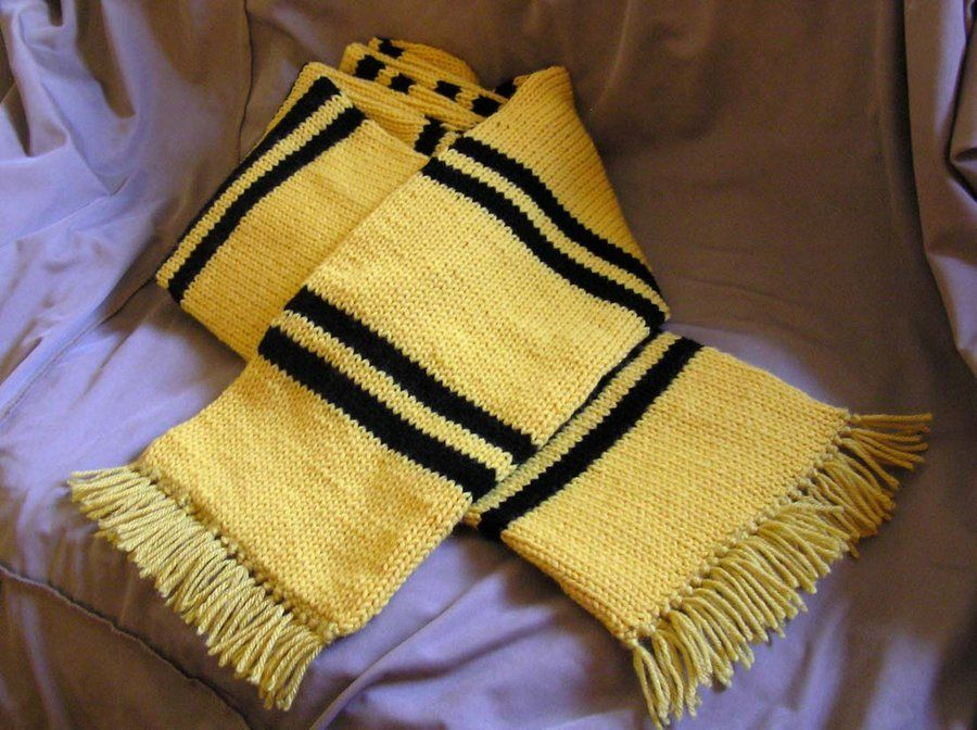 Hufflepuff Knit Scarf Pattern Google Search Knitting Pinterest