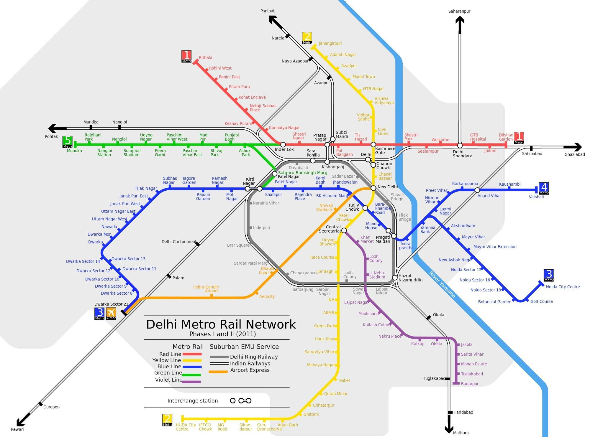 DELHI METRO MAP Delhi Agra Rishikesh India Pinterest - Metro rail houston map