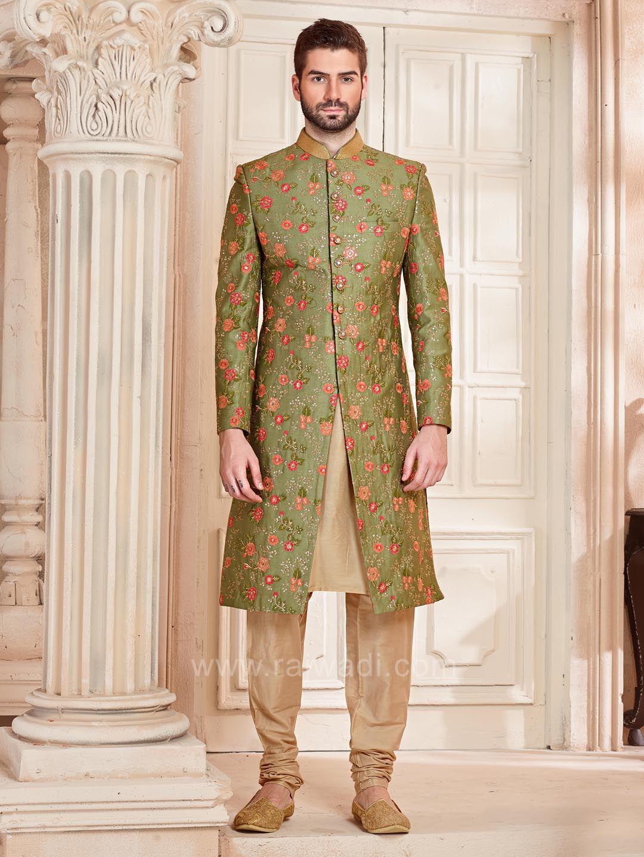 Silk fabric indo western rajwadi designer exclusive trendy