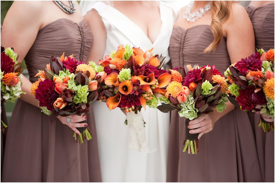 Beautiful bouquet colors for a September wedding :) From Allyson ...