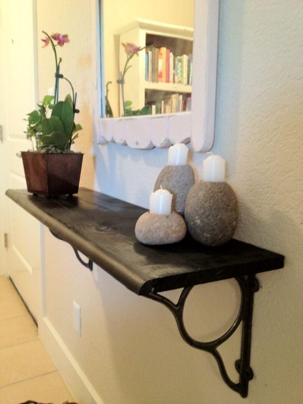 Diy Floating Shelf In Small Foyer Entryways Entryway Decor Ideas
