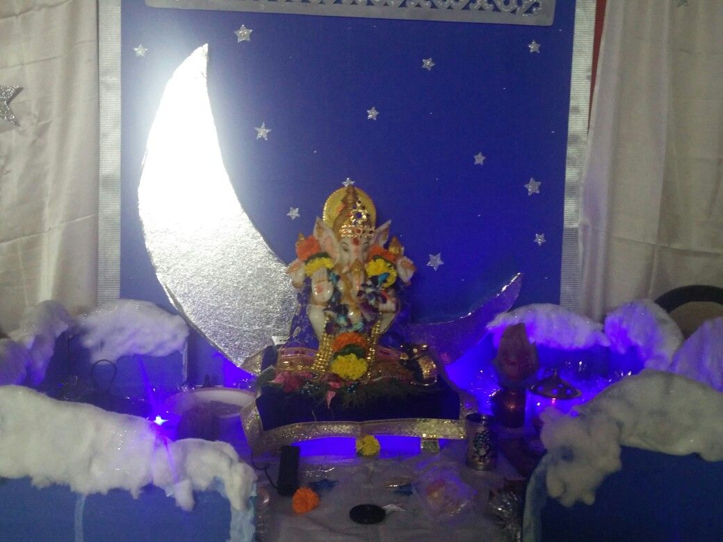 Backdrop Made From Ply Curtains Made From Satin Cloth Moon Made