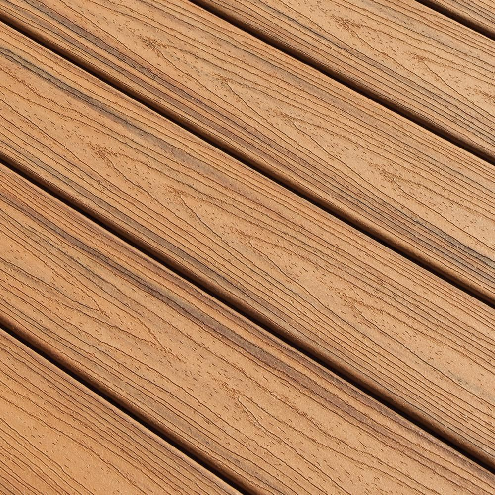 Trex Transcend 1 In X 5 5 In X 1 Ft Tiki Torch Composite Decking Board Sample Ttt90000 The Home Depot Composite Decking Colors Composite Decking Boards Composite Decking