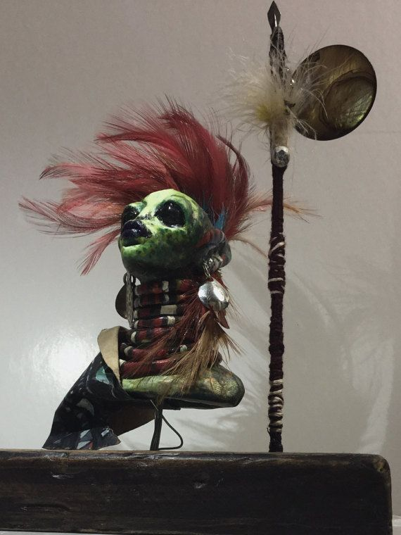 High Shaman Warrior Priestess Alien by Vesuvia8Eclecticism on Etsy