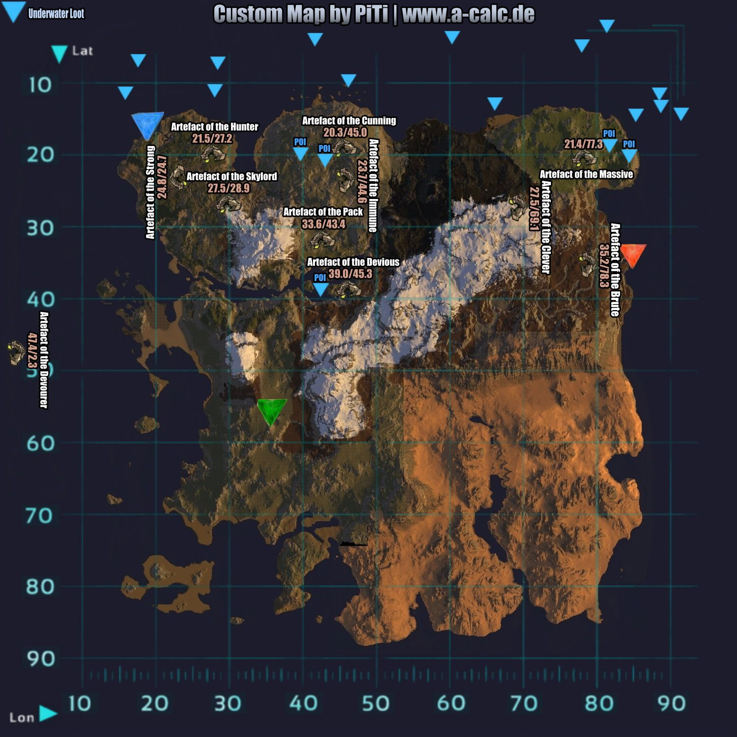 Custom Map By A Calc De Ark Survival Evolved Ark Survival Evolved Tips Ark