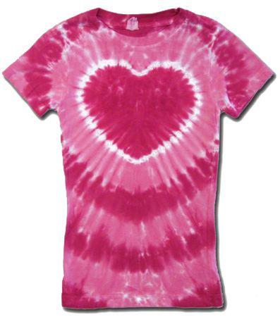 561f7a06876fe Kids Tie Dye T-shirt - Sundog Girls Pink Heart Tee   Tie Dye   Tie ...