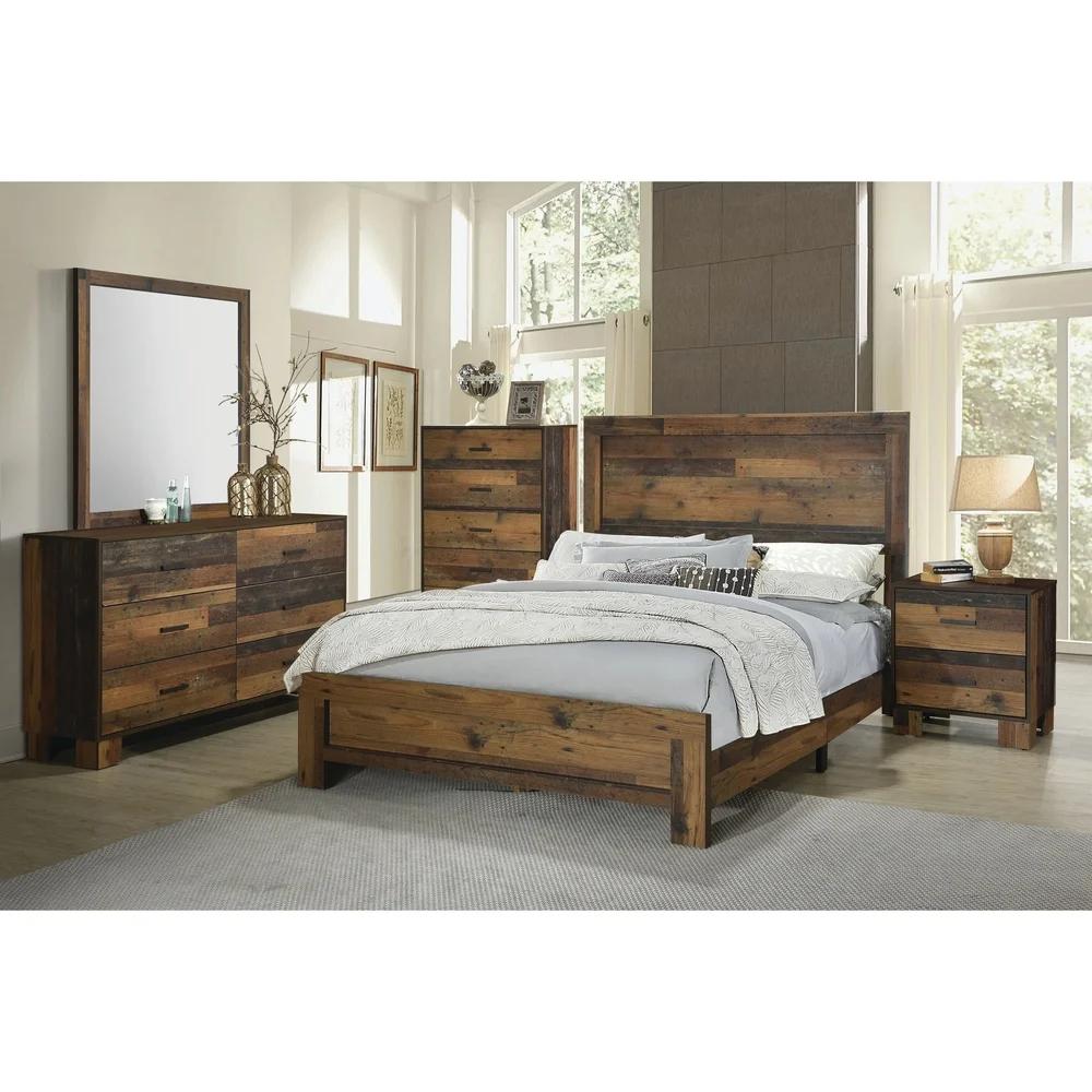 Carbon Loft Romang Rustic Pine 4piece Bedroom Set (With