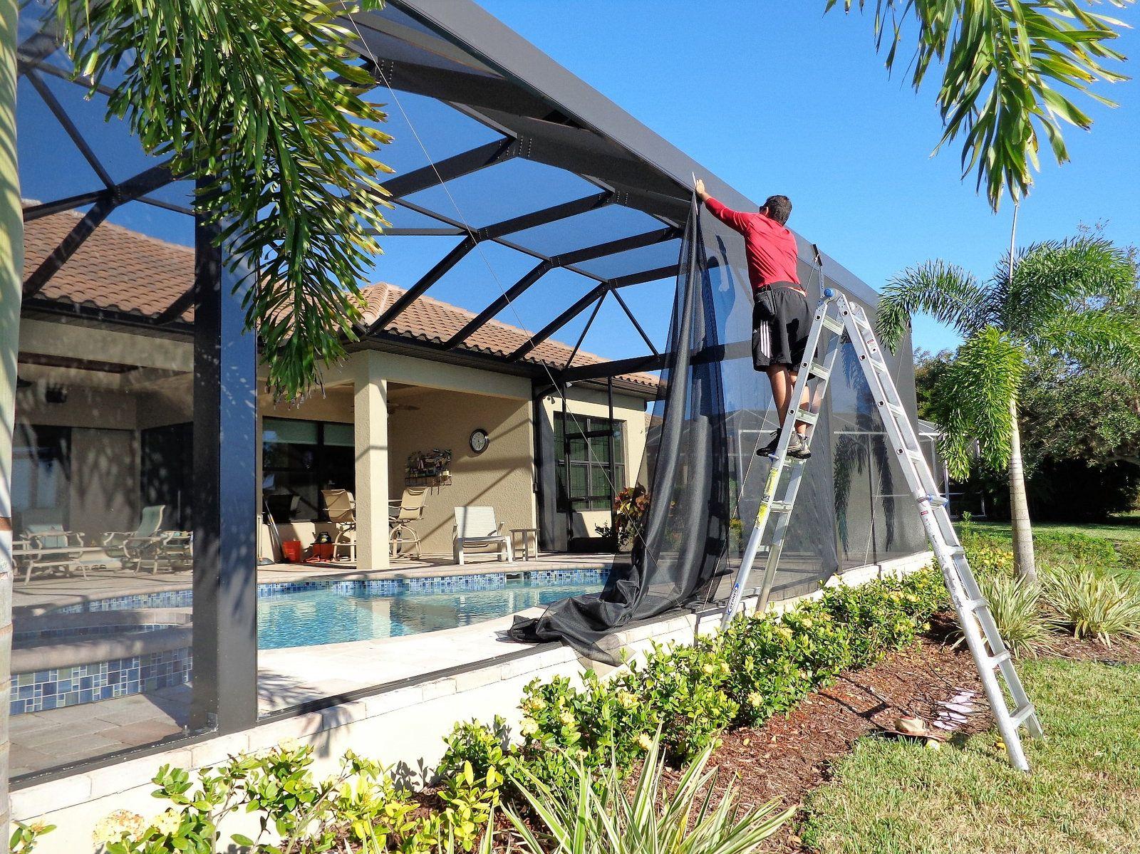 Patio Rescreen Pool Cage Rescreening Or Repair Pool Cage Pool Patio