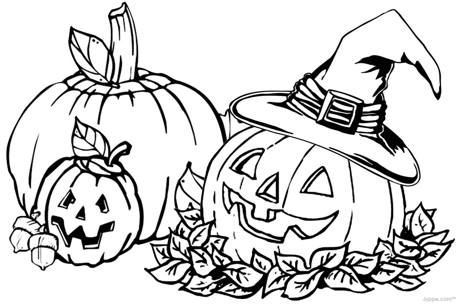 Pumpkin Coloring Pages (1503 x 1000) | Halloween (B&W) - Clip Art ...