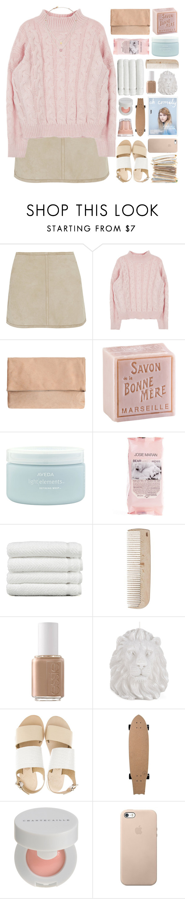 """Orsalia"" by etheras ❤ liked on Polyvore featuring KaufmanFranco, L'Occitane, Aveda, Josie Maran, Linum Home Textiles, HAY, Essie, Zara Home, Sol Sana and Chantecaille"