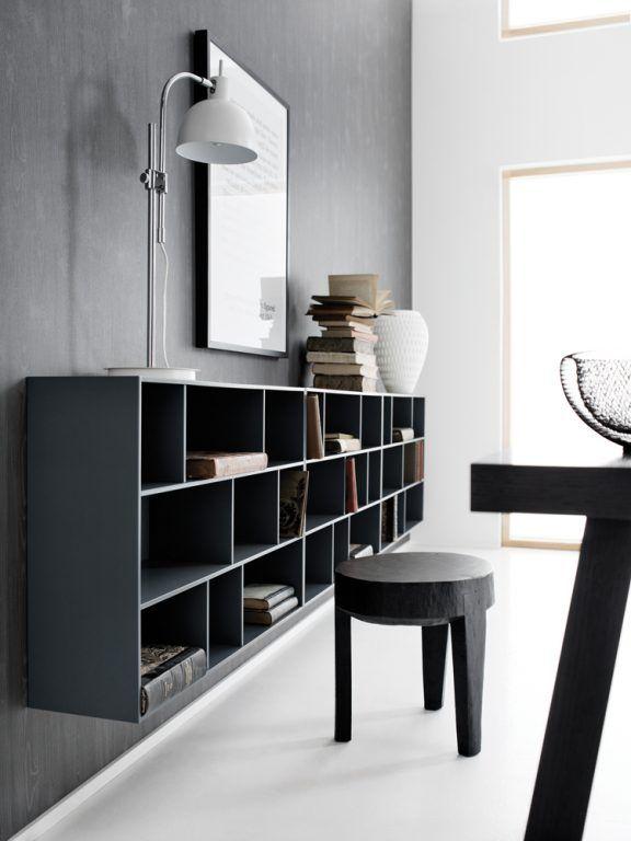 Moderner Wohnstil Dunkle Inneneinrichtung Mit Schwarzen Mobeln Minimalistischer Stil Von BoConcept