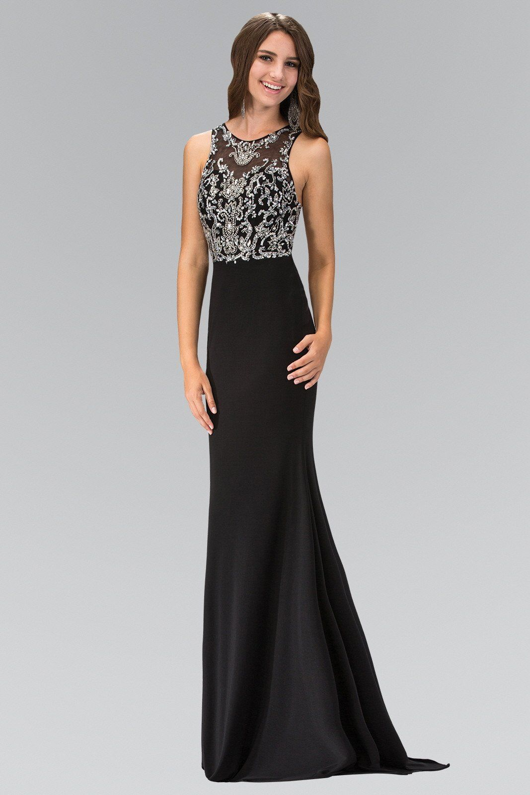 Long beaded prom evening gown gl in products