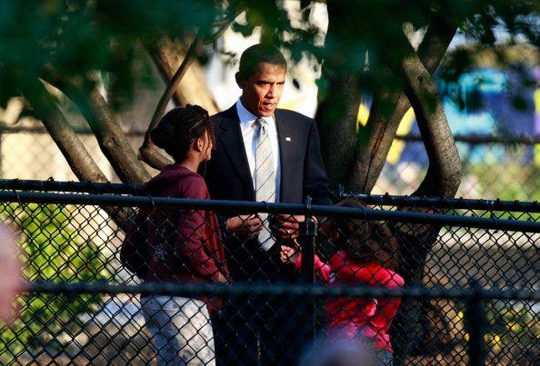 Sasha Obama Photos - Barack Obama Casts His Vote For President - Zimbio